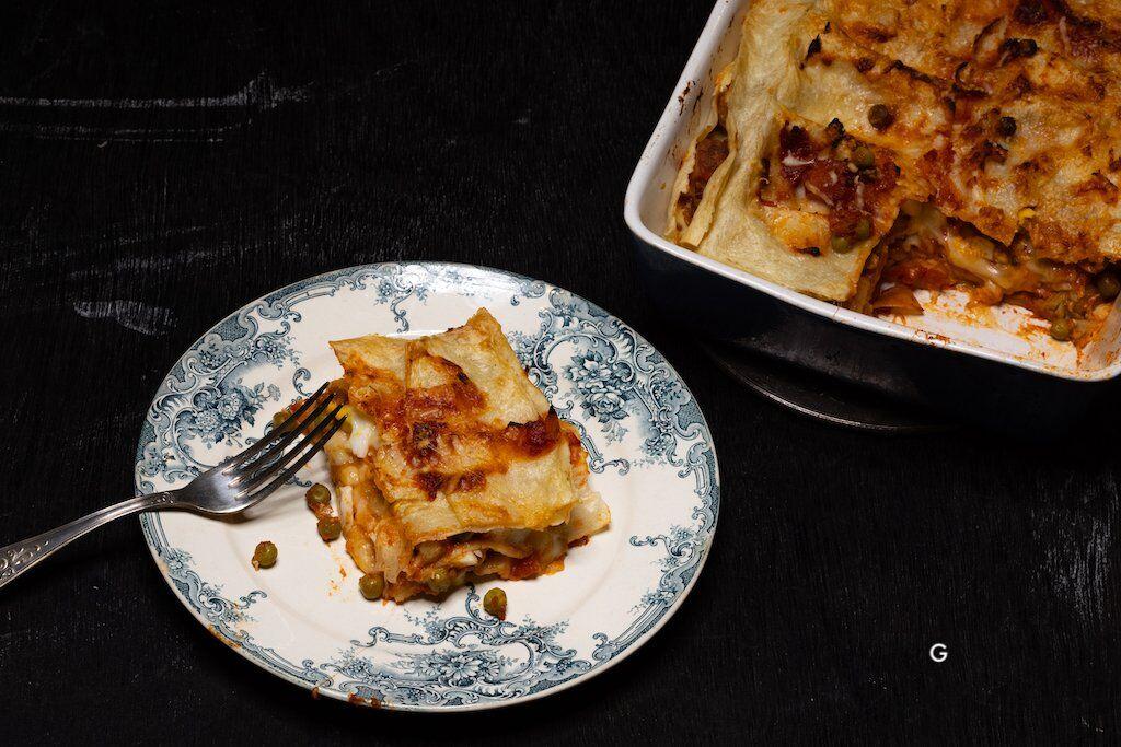 Sagne chine, lasagne à la calabraise