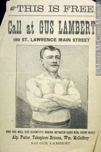 Gus Lambert. © Musée McCord