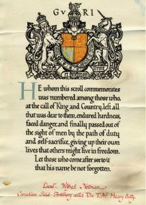 Notice mortuaire de Wilfred Notman, 1916. Crédit : Musée McCord.