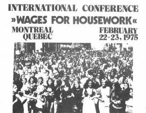 Affiche invitation à la Conférence de Montréal du Collectif féministe international, 22-23 février 1975 (Archives Mariarosa Dalla Costa)