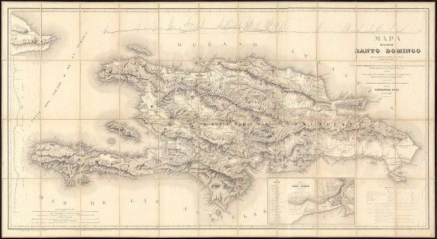 Carte de Saint-Domingue (1858).