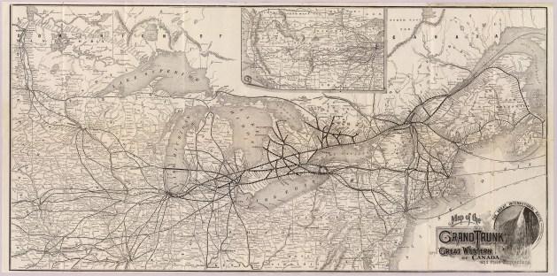 Chemin de fer du Grand Tronc. Source : Wikimedia Commons.