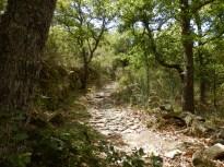 Route médiévale de Sournia à Estagel par Ansignan, pavée en granite. Dessert un pont du IXè ou XIè. Cette section est commune avec le chemin Long de Prats à Trévillach ou Camin Long de Trévillach. Long au sens de très ancien en languedocien.