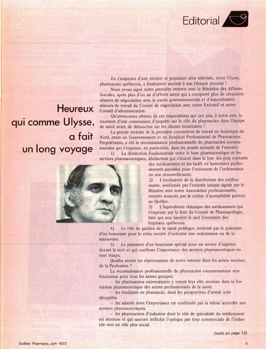 Heureux Qui Comme Ulysse Texte : heureux, comme, ulysse, texte, Heureux, Comme, Ulysse,, Voyage, (Québec, Pharmacie,, 1972), Histoire, Pharmacie, Québec