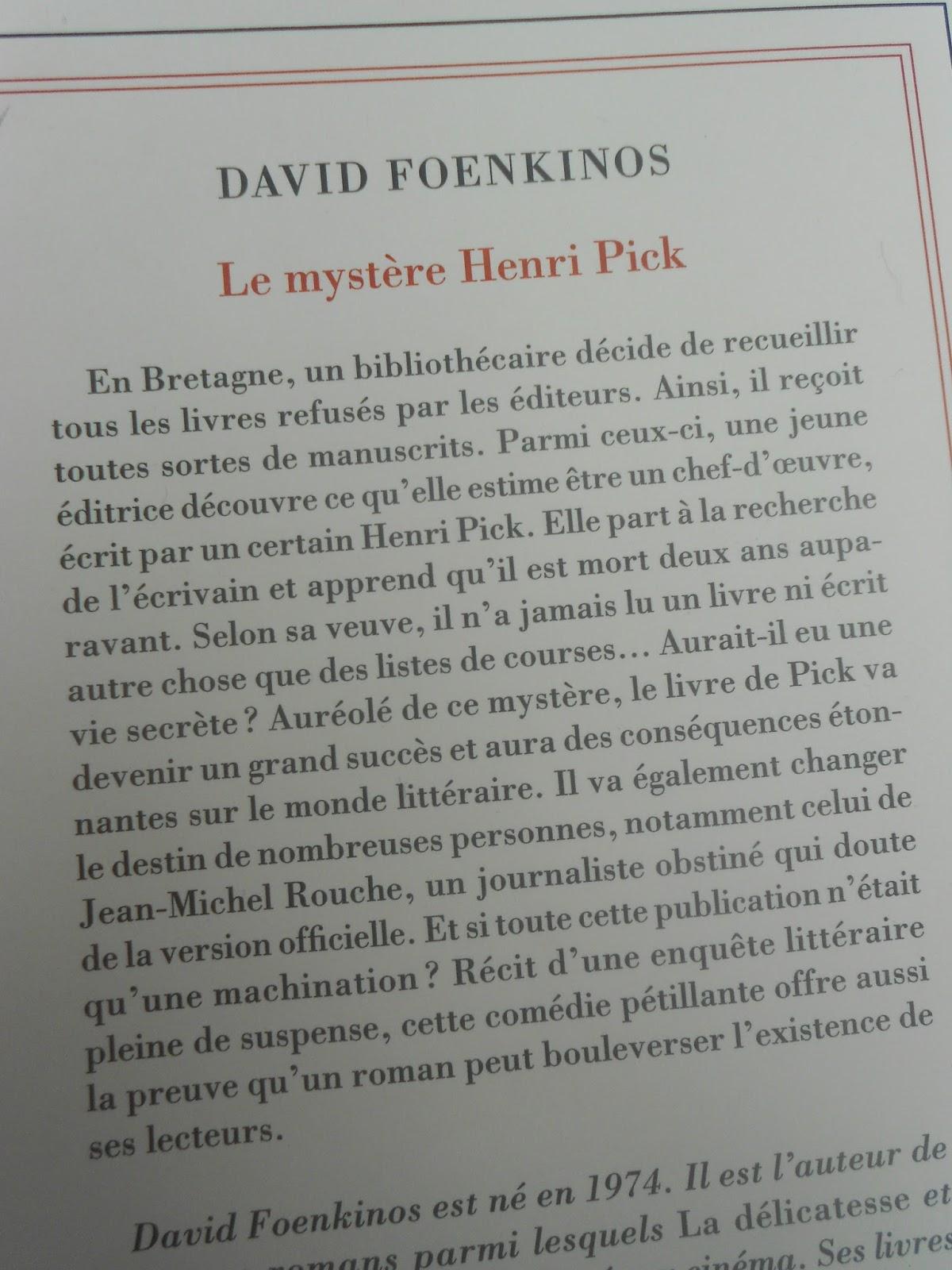 Le Mystere Henri Pick Histoire Vraie : mystere, henri, histoire, vraie, Mystère, Henri, Pick