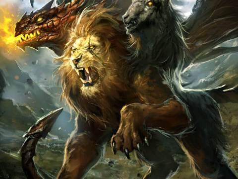 La Chimère, origine d'un terrible monstre tricéphale