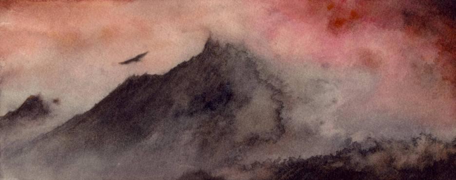 Le livre de l'invocation et la sorcière ...Elle avait traversé des contrées périlleuses pour en arriver là, des montagnes de cendres où sifflait sans discontinuer un vent glacial...