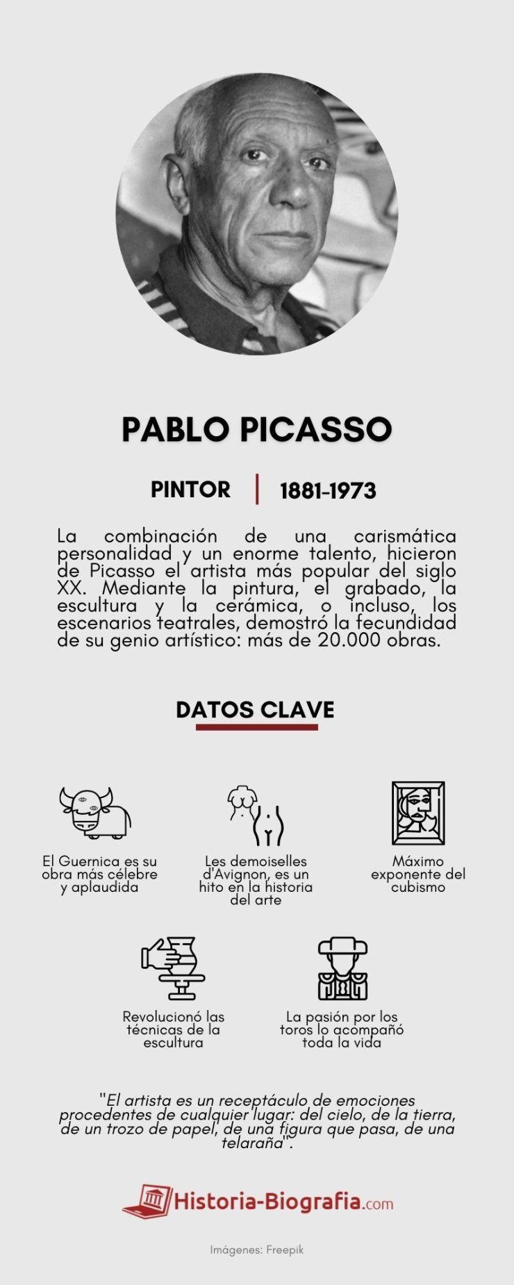 Pablo Picasso Infografía