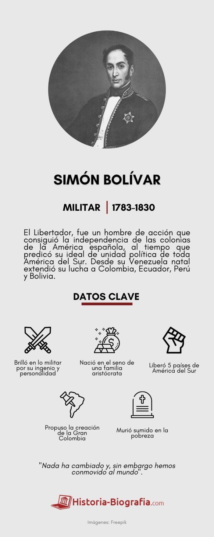 Simón Bolívar infografía