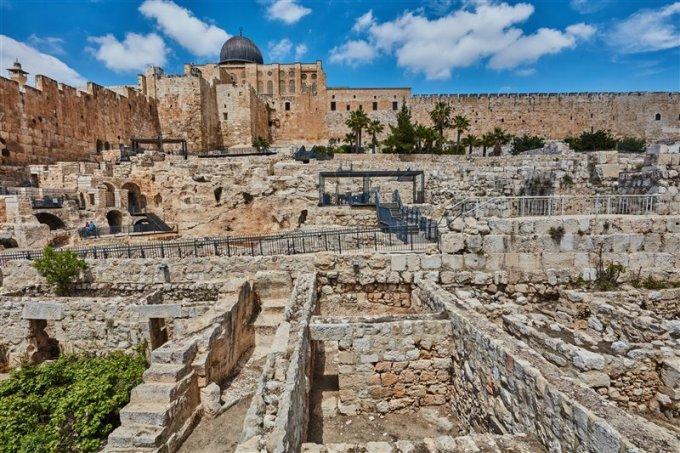 Vista de la Ciudad de David, donde se ha realizado el hallazgo del sello con la imagen del dios Apolo.