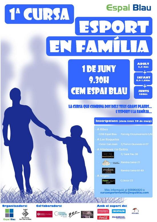 Cartell cursa ESPORT EN FAMILIA