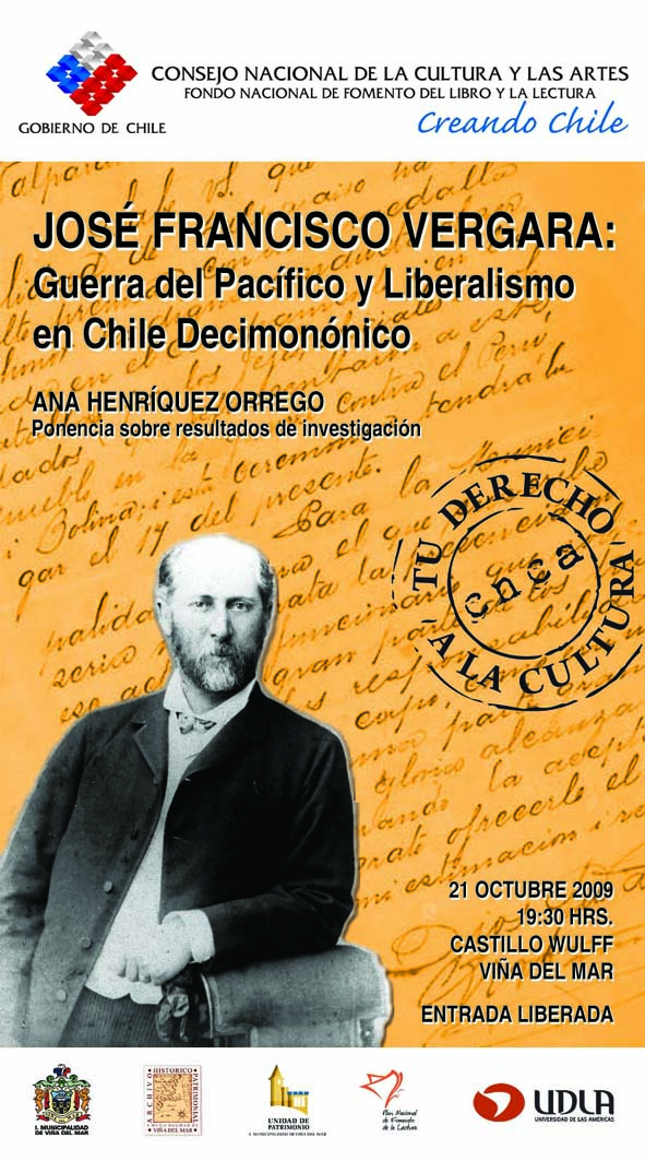 JOSE FRANCISCO VERGARA: GUERRA DEL PACIFICO Y LIBERALISMO....