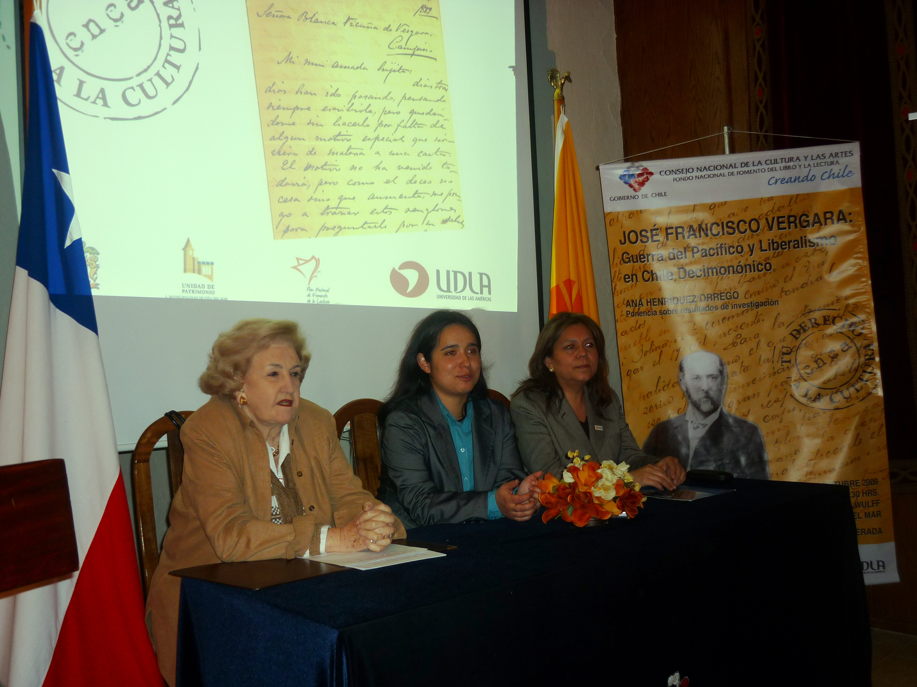 Eugenia Garrido, Ana Henriquez, Jeanette Rivera (JFV). 21 OCT. 2009