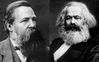 """Friedrich Engels e Karl Marx - Referências do Socialismo Cientifico e autores do """"Manifesto Comunista""""."""