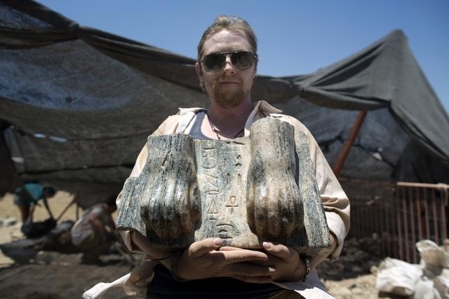 Un esfinge del faraón Menkaure (Mykerinos) descubierto en Israel
