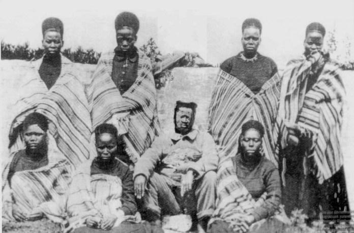 Gungunhana_esposas_lisboa_1896