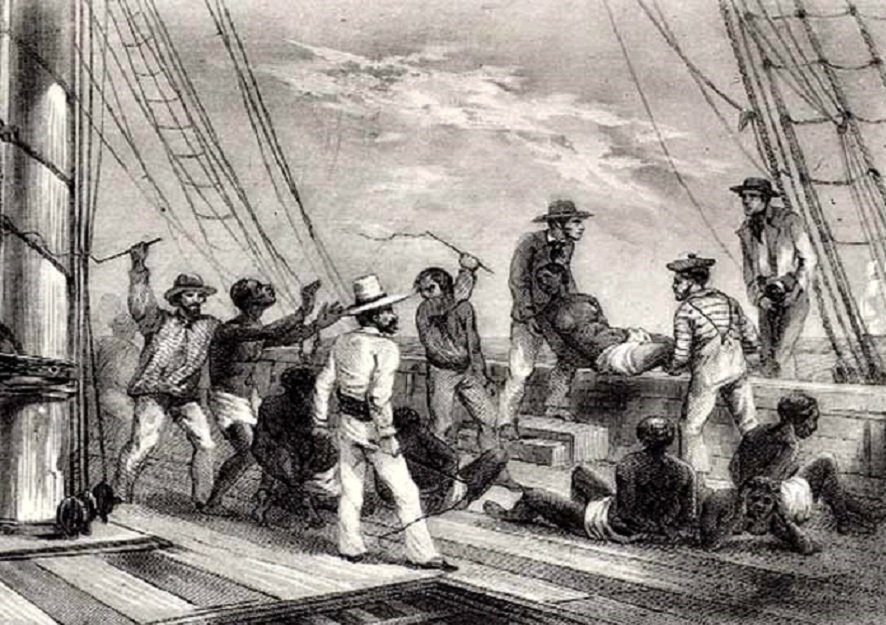 La matanza del Zong: Más de 142 africanos fueron arrojados al mar por la tripulación.