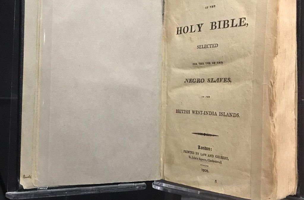 La biblia dedicada a los negros esclavizados era diferente de la de los amos.