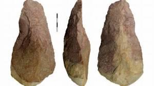 Material lítico atopado en O Cabrón, en Arbo / ocabron.wordpress.com