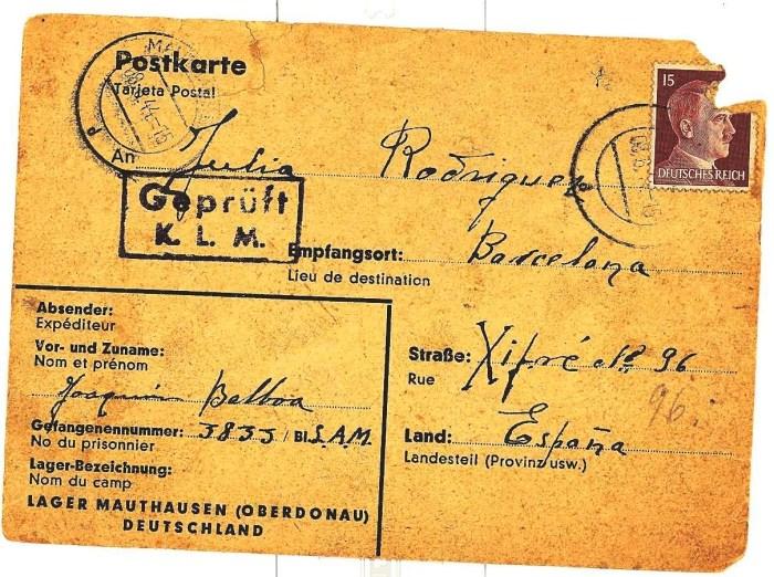 Postal co selo do dictador fascista Adolf Hitler