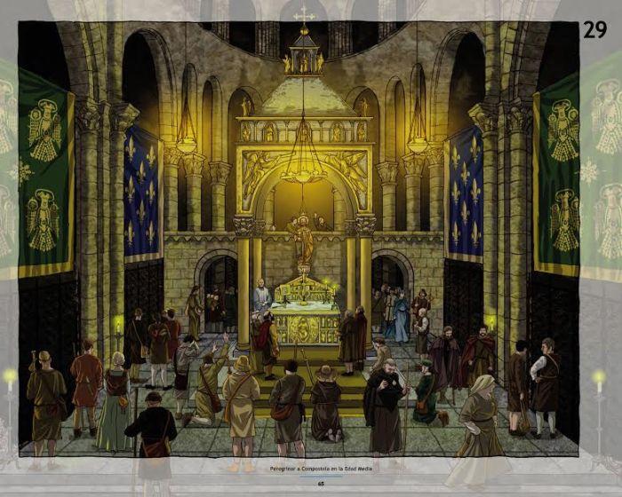 """Unha das imaxes do libro """"Peregrinar a Compostela na Idade Media'"""