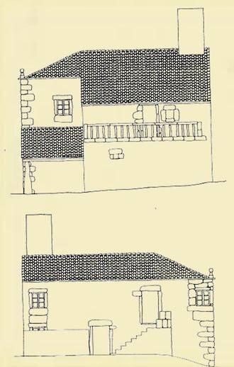 Casa de Millán de Santabaia do s.XVIII de Jose Garcia, un dos 15 votantes en 1836, hoxe abandonada / QPC