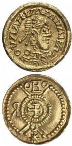 Moeda sueva acuñada na Gallaecia entre o 410 e o 500