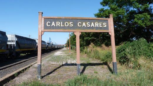 Cartel de Carlos Casares, en Arxentina / haciendovia.arg