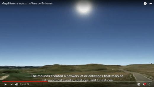 Imaxe do vídeo do CSIC sobre a orientación espacial e temporal das necrópoles megalíticias do Barbanza