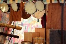Posto de percusión tradicional / foto HdG