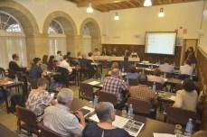 Imaxe do Seminario esta mañá / foto Rede de Estudos Medievais Interdisciplinares