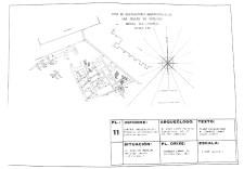 Plano no que documentou en 1972 Chamoso Lamas a campaña Detalle da escavación / foto cedida por AXA Arqueoloxía