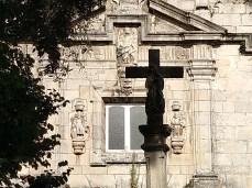 Nosa Señora da Pastoriza, no Concello de Arteixo, fachadabarroca / foto HdG