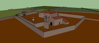 Reconstrucción do Prioirado Bieito de San Romao de Moreda, en Pantón / Lucas Vázquez