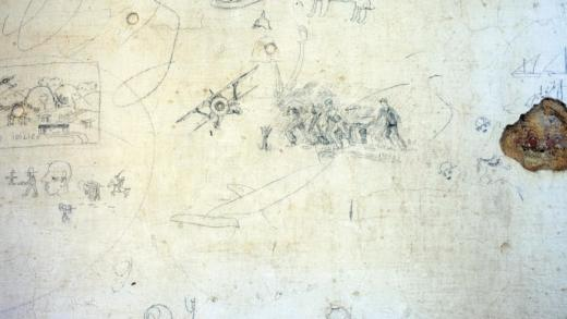 Pinturas en paredes e poemas… Coñece o que sentían os represaliados franquistas presos no Mosteiro de Oia