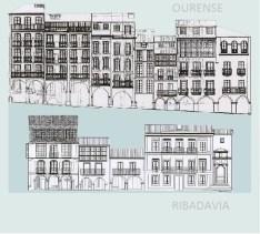 Cartaz dos Encontros in situ de Ourense e Ribadavia / Consello da Cultura Galega