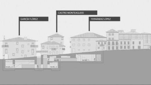 A singular ampliación subterránea do Museo de Pontevedra adíase por falta de apoios