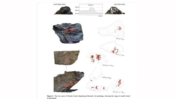 Pinturas rupestres de Vilardevós / foto Universidade de Vigo