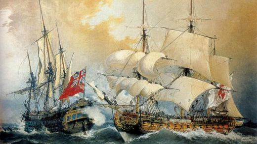 Cando un só buque inglés atacou e conquistou a vila de Muros