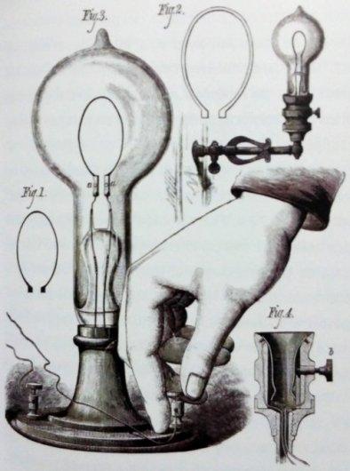 Edison lámpara incandescente eléctrica