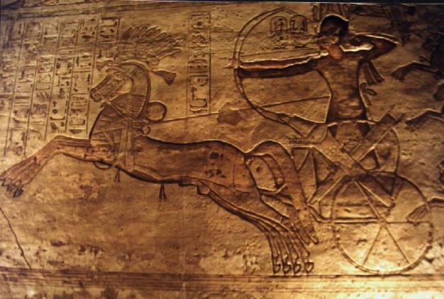 Relieve de Ramsés II, uno de los faraones egipcios más famosos, en la batalla de Qadesh