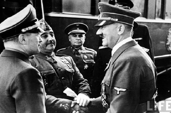 Reunión de Francisco Franco y Adolf Hitler en Hendaya, el 23 de octubre de 1940