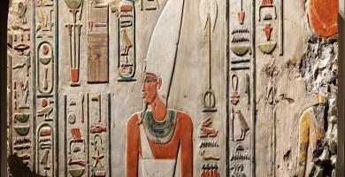 Relieve de Deir el Bahari en el que se ve a Mentuhotep II