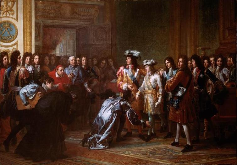 La proclamación de Felipe V como rey español