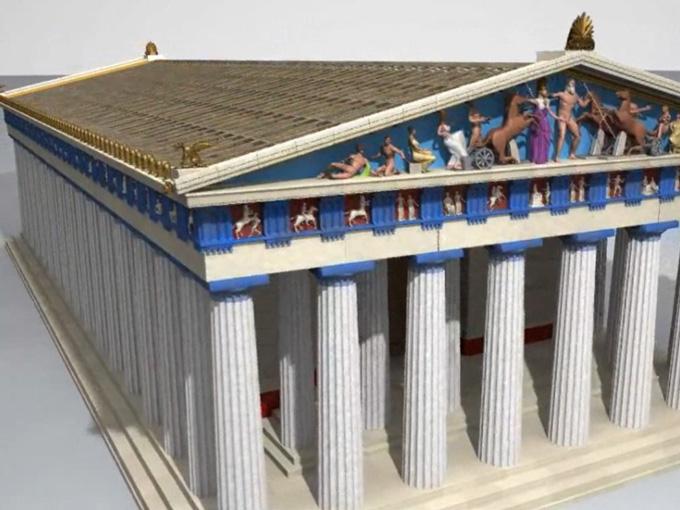 Posible reconstrucción del Partenón de Atenas