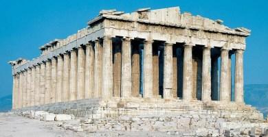 Vista general del Partenón de Atenas