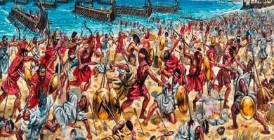 Ilustración sobre la batalla de Egospótamos, clave en la rendición de Atenas (Arrecaballo)