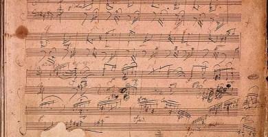 Manuscrito musical conservado de Beethoven