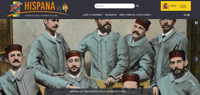 Captura de pantalla de la web de Hispana