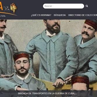 Captura de pantalla de la web de Hispana